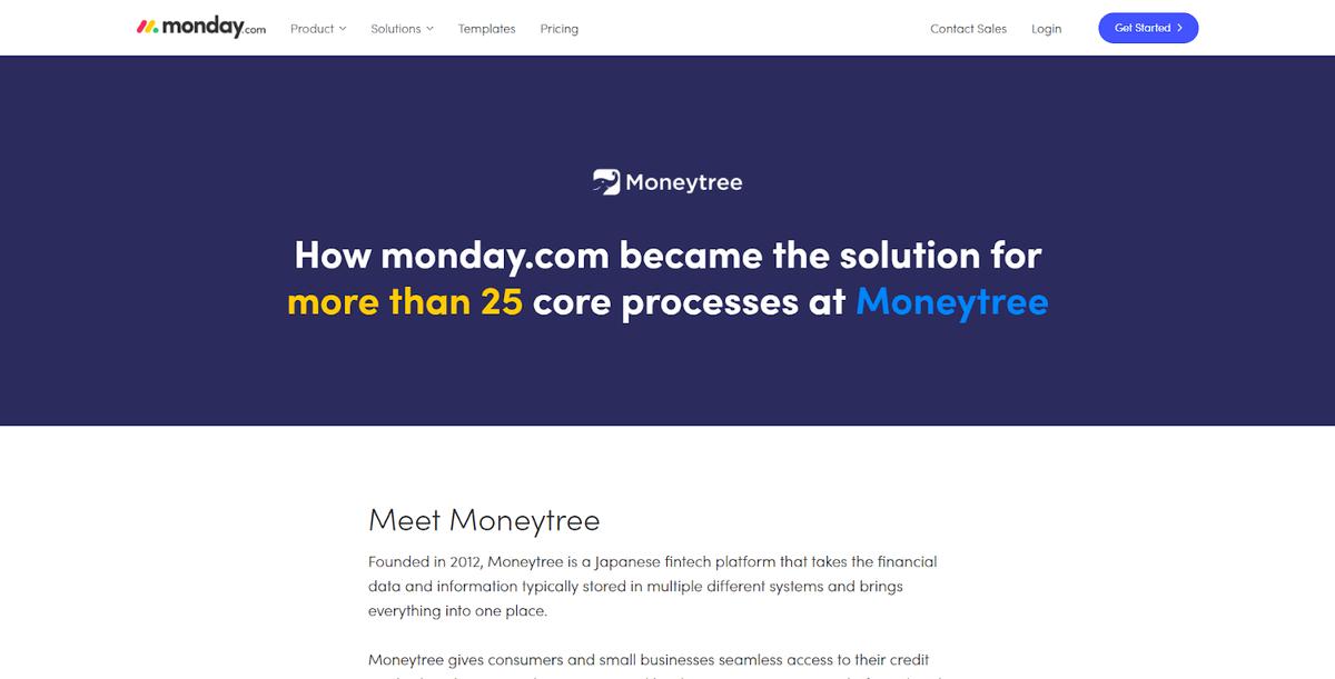 Moneytree case study for monday.com