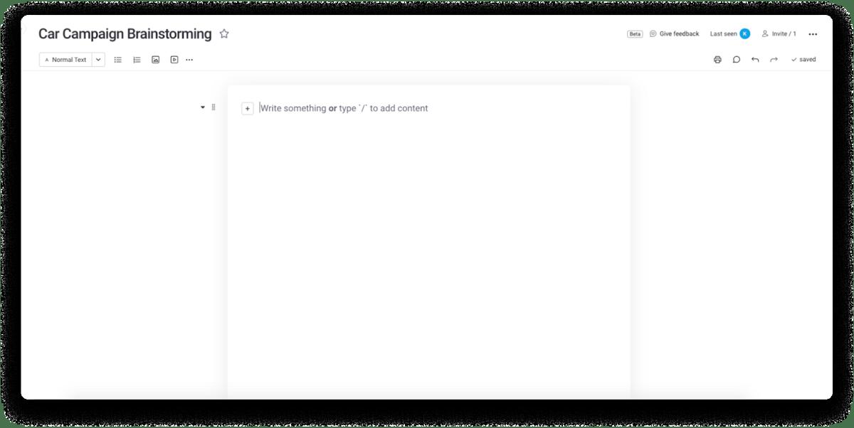 monday.com's Docs example