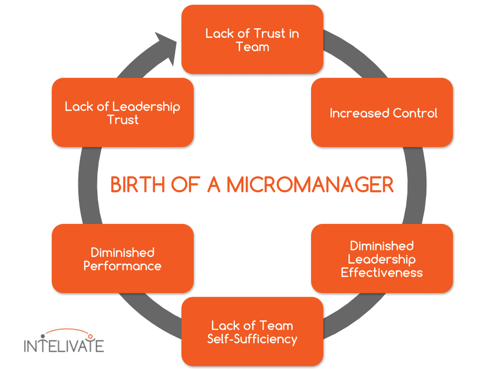 Visual representation of how micromanagers are born